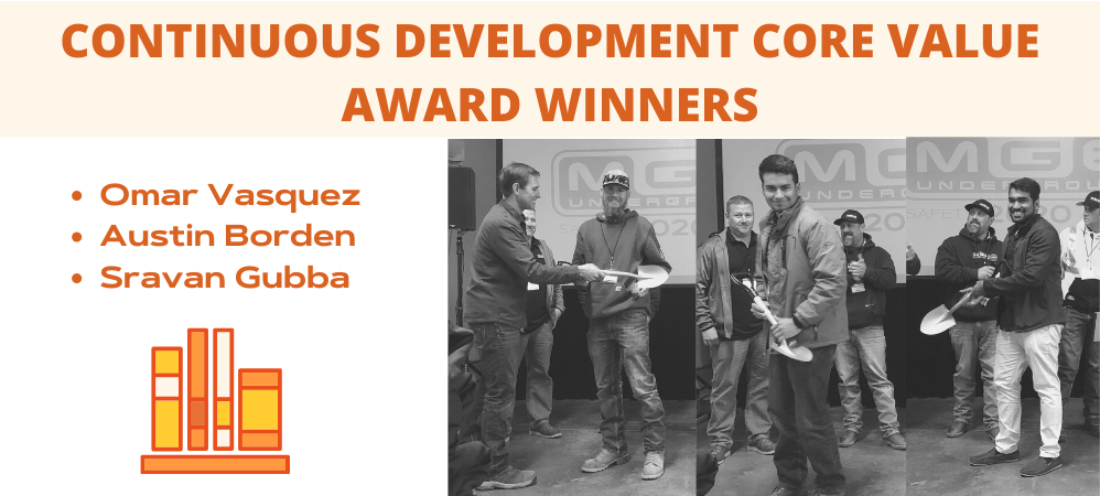 Continuous Development Core Value Award Winners