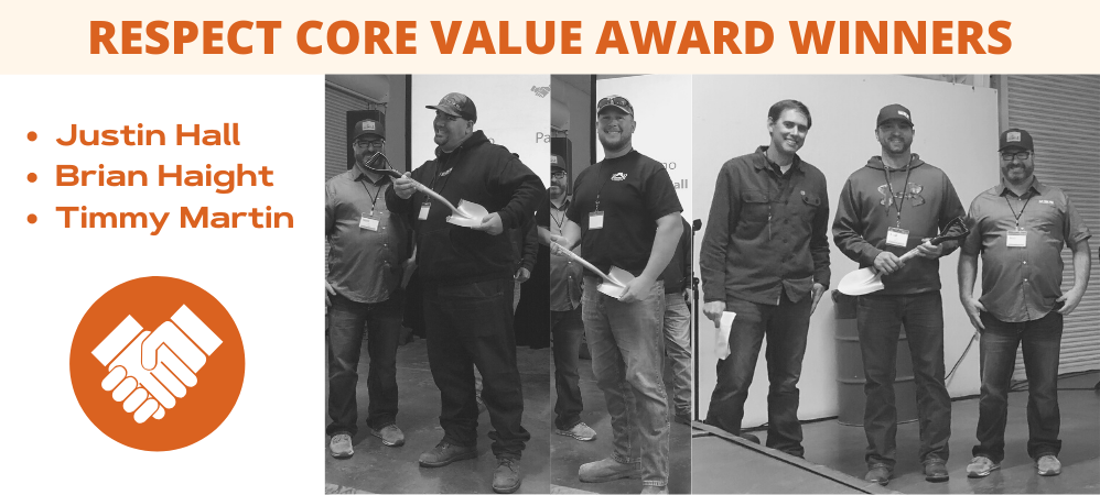Respect Core Value Award Winners