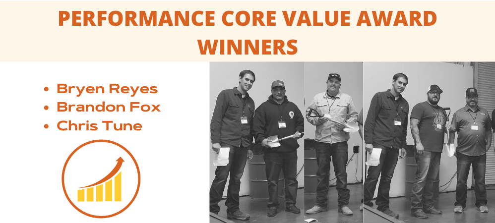 Performance Core Value Award Winners