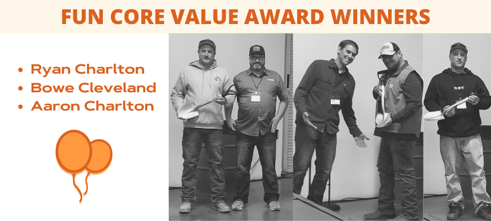 Fun Core Value Award Winners