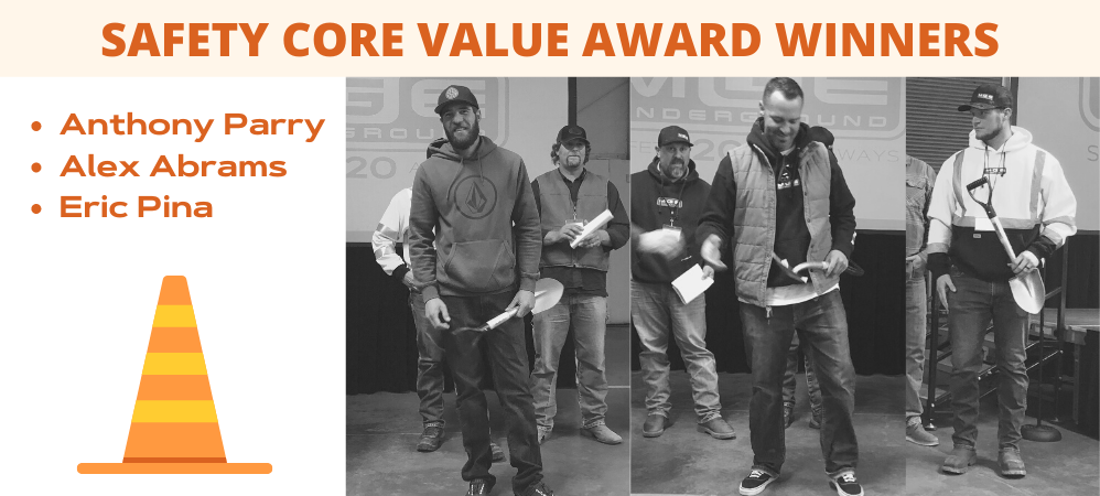 Safety Core Value Award Winners