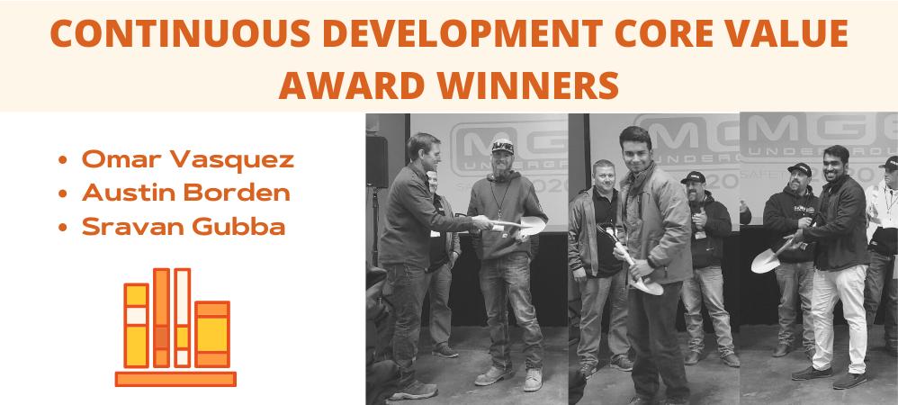 Continuous Development Core Value Award Winners