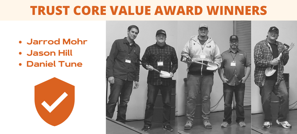 Trust Core Value Award Winners
