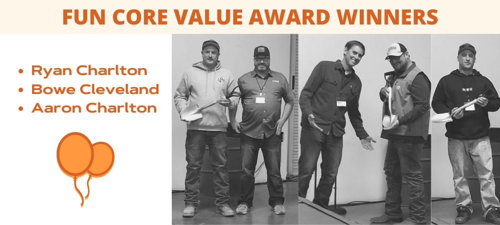 Fun Core Value Award Winners